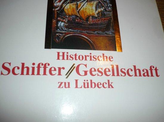 Schiffergesellschaft: restaurant menu