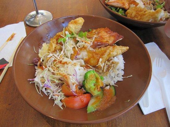 Shimizu Donabe & Bento: Que prato delicioso e saudável! Peixe.