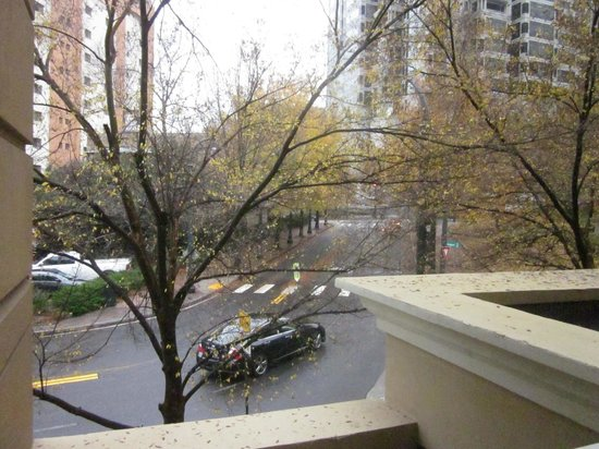 Inn at the Peachtrees: view of street from room