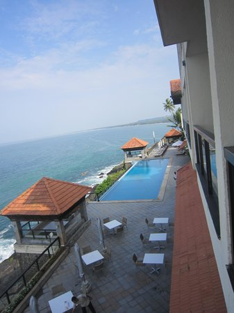 The Leela Kovalam Beach: View from the club room