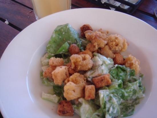 Sandals Ochi Beach Resort: squid caesar salad (ochi beach club)