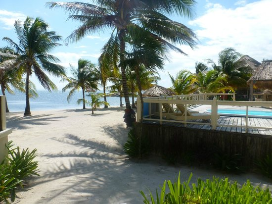 Exotic Caye Beach Resort: View from porch