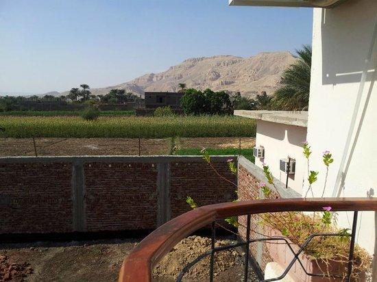 New Memnon Hotel: Desde la habitación se ven los Colosos de Memnon