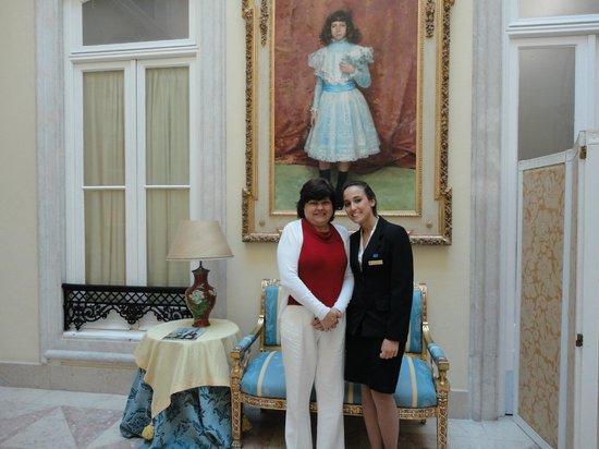 Pestana Palace Lisboa Hotel & National Monument: Esposa Kleyde com Maitre Rita (Café da manhã)