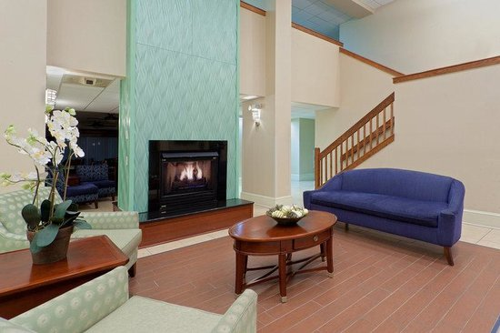 Holiday Inn Express Seaford-Route 13: Relax by the fireplace.