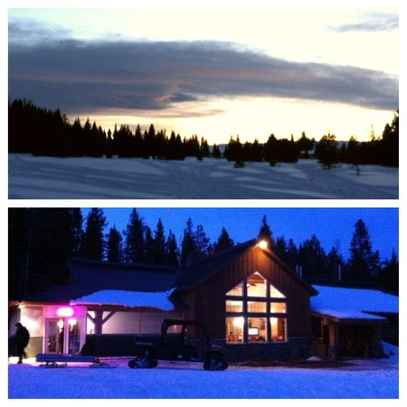 Wyoming High Country Lodge: Sunset after snowkiting