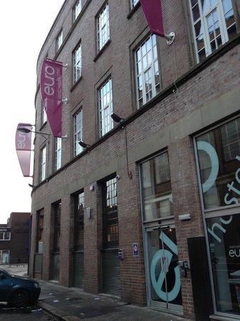 Fachada del euro hostel Newcastle