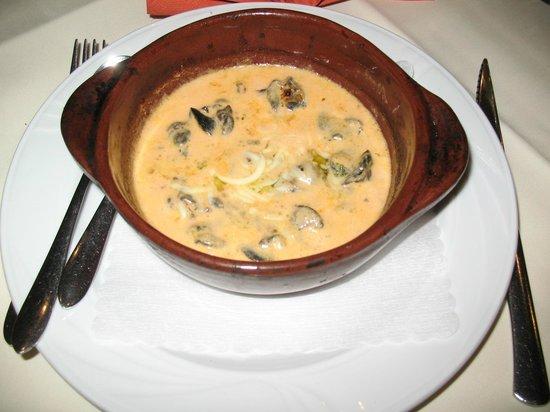 Agnello Bianco: Schnecken in Gorgonzolasauce