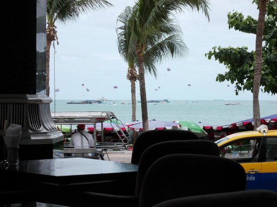 LK The Empress: View of the Beach Road and the beach from the restaurant