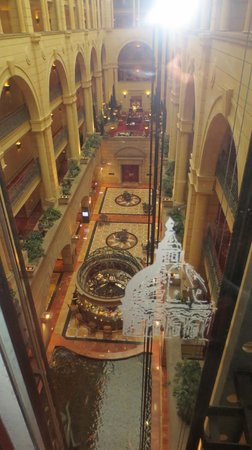Michelangelo Hotel: a view from the panoramic lift