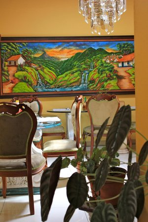 La Posada Hotel: Área para desayunos