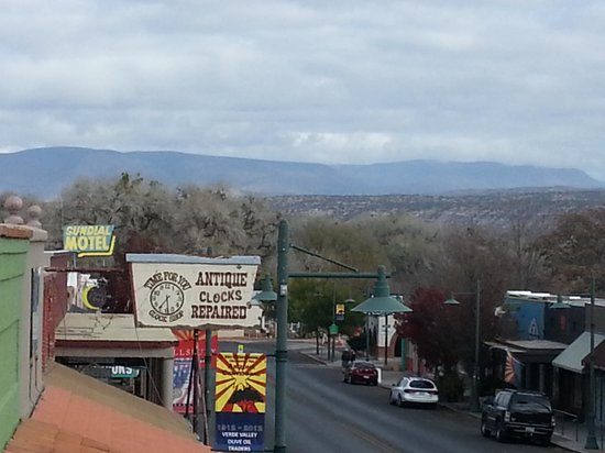 Cottonwood Hotel: View of down town from our room