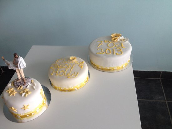 Seaside Themed Commissioned Wedding Cake Picture Of The Mixing