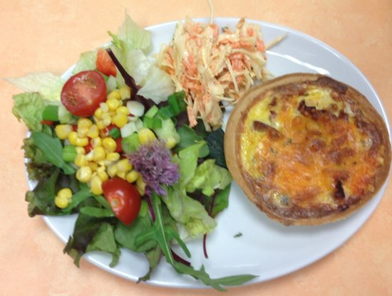 The Mixing Bowl: Savoury Tartlet with side salad