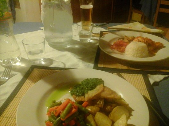 Guayabo Lodge : Dinner