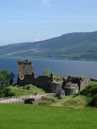 Urquhart Castle: Part of the Castle you see after stepping out of the Info center and gift boutique!