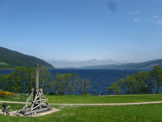 Urquhart Castle: The Catapult that sits just outside of the Castle