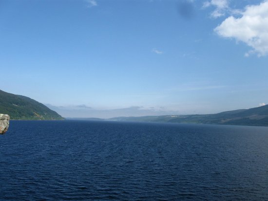 Urquhart Castle: View of Lochness from the last remaining tower! Looking East.