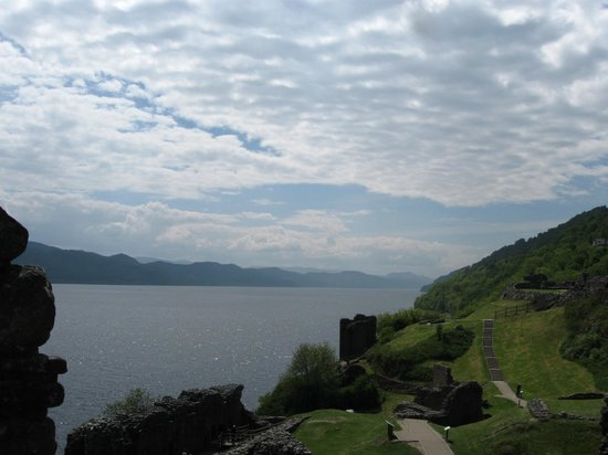 Urquhart Castle: View of castle and Lochness, looking west!