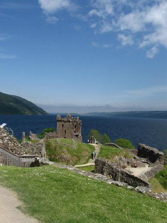 Urquhart Castle: View of Tower and Lochness, looking east!