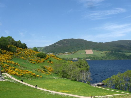 Urquhart Castle: View of the grounds just outside the Castle!