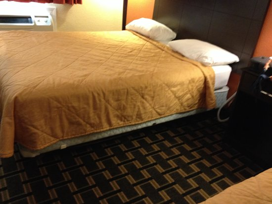 Super 8 Springfield East: Poor uninviting bedding