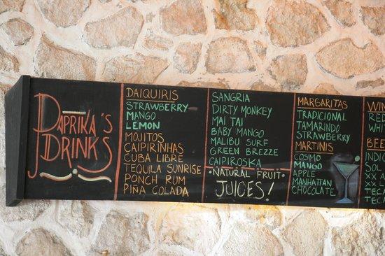 Paprika Mexican & Caribbean Cuisine: Bar Service