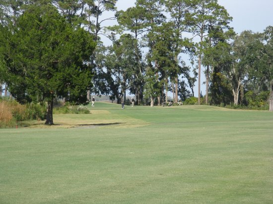 The King and Prince Beach and Golf Resort: 2nd shot par 5 3rd hole into marsh.
