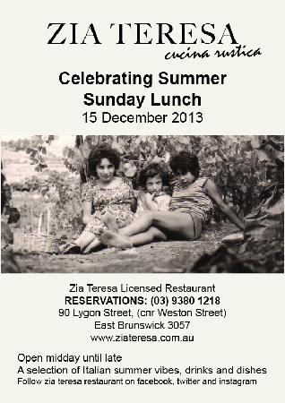 Zia Teresa Restaurant: SUNDAY LUNCH