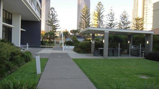 Ultra Broadbeach: Side entrance & grounds