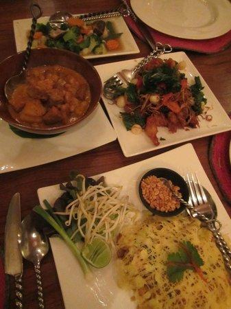 Ariyasomvilla: Vegetarian dinner