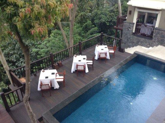 Kayumanis Ubud Private Villa & Spa : レストラン上から撮りました