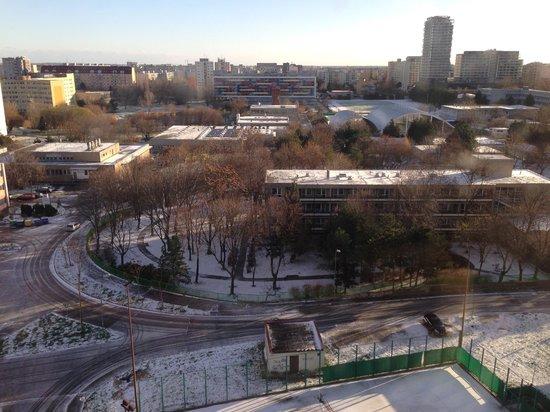 Holiday Inn Bratislava: View from my 10th floor room