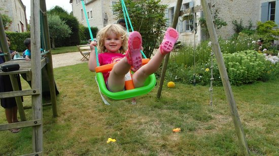Manoir du Moulin : Loving the swings in the garden of the Manoir