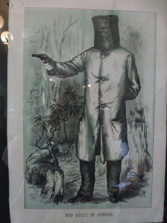 Ned Kelly Guided Walking Tour: Hard to miss Ned in this town