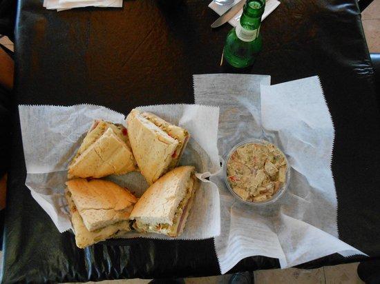 Gumbo YaYa's East : Muffaletta;  HUGE portion!