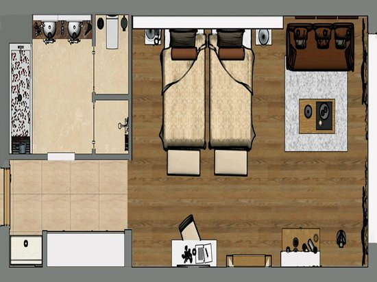 Bellis Deluxe Hotel: Lake Houses room plan