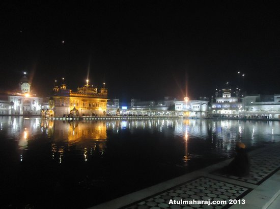 Temple d'or : Golden Temple - Night View.