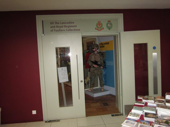 The Fusilier Museum: entrance to museum