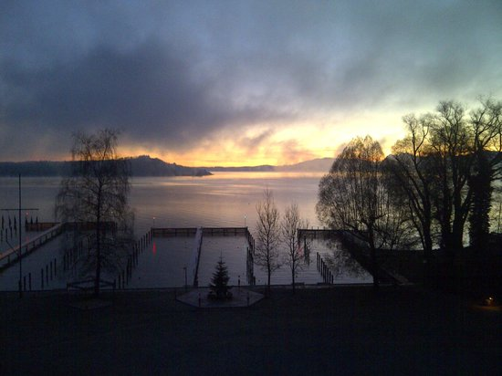 Yachthotel Chiemsee: view from my room, 7am