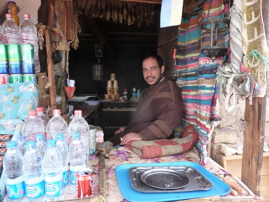 Dahab Safari Day Tours : One of the huts 50m below the top