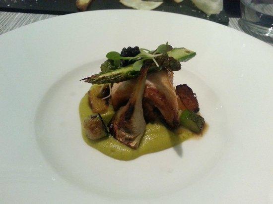 Hospes Palau de la Mar Hotel : Corbina con salsa de setas