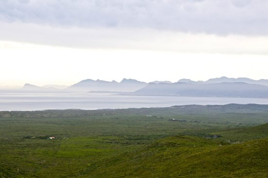 Fynbos Trail: A view of Walker Bay and beyond, all the way to Cape Point in the distance