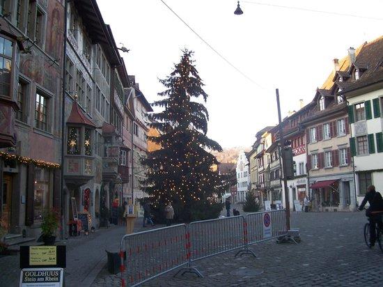 B&B Stein am Rhein: Typical street scene during December