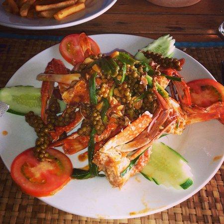 Trei : Краб в соусе из зеленого перца по кхмерскому рецепту 6,5$