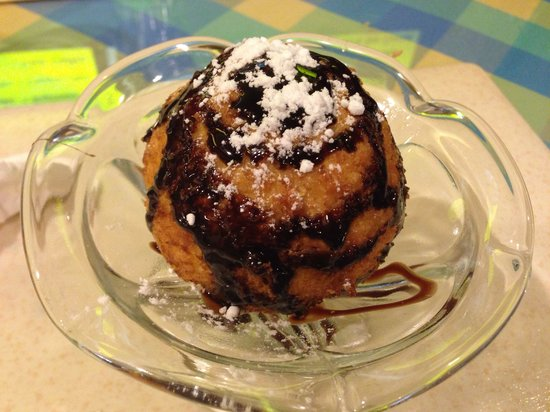The Orchids Restaurant : Deep fried ice ream :)