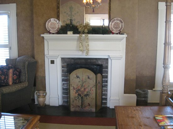 Ballastone Inn: fireplace in room