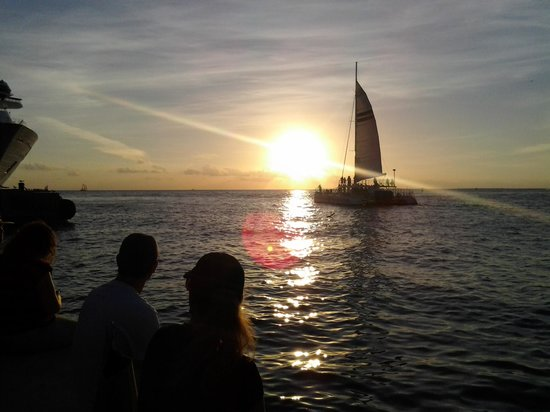 sunset in mallory square