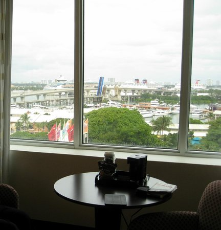Holiday Inn Port of Miami Downtown: View of Cruise Ships from Room 1005