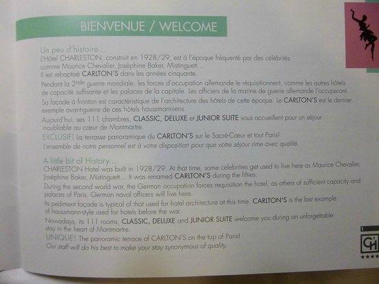 Hotel Carlton's: l histoire